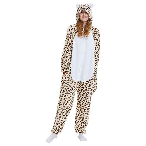 theshyer Pijamas para Mujer, Ropa de casa Bonita, Pijama con Estampado de Leopardo de Dibujos Animados, Estilo de casa Bonito