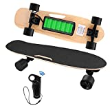 Aceshin Electric Skateboard with Remote Small for Kids Teens, 350W Motor, 12 MPH Top Speed (E-Black(Standard Skateboards))