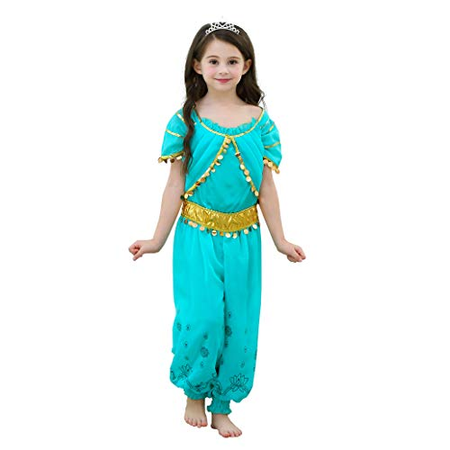Lito Angels Disfraz de Princesa Jazmín para Niña Vestido de Jazmin de...