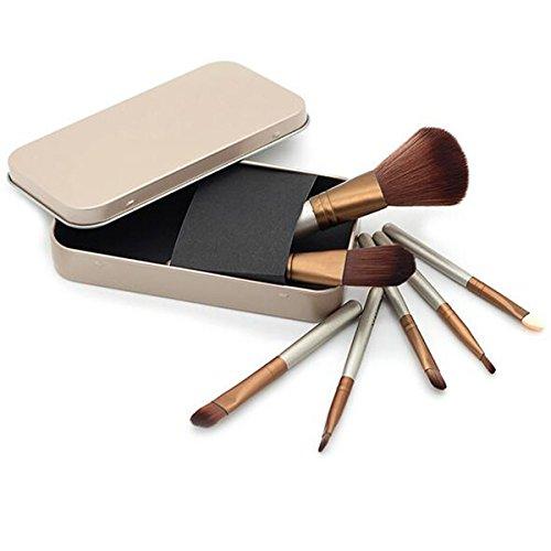 Arpoador Lot de pinceaux de maquillage professionnels avec manche en bois pour fond de teint, estompeur, blush, poudre
