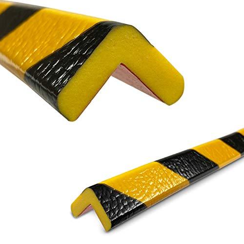 Betriebsausstattung24® Eckschutzprofil Typ E | gelb/schwarz | selbstklebend | Länge: 1,0 m