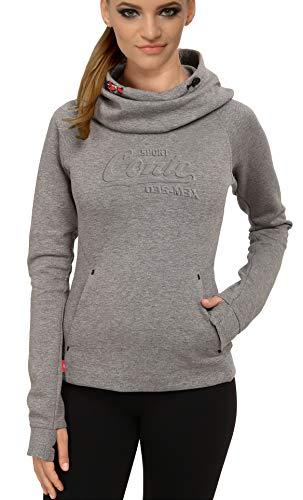 M.Conte Vrouwen Hooded Sweater Dames sweatjas sweatshirt capuchon Rihana kleuren zwart, grijs melange blauw turquoise S M L XL