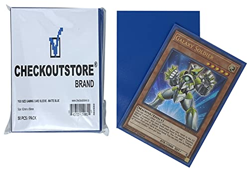 CheckOutStore 10,000 Matte Blue Protective Sleeves Yu-Gi-Oh, Cardfight Vanguard (62 x 89 mm)
