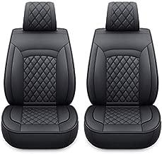 12-SLX 2 Captain Car Seat Covers Fit for Most SUV Sedan with Faux Leather (SLX-2 PCS Black)