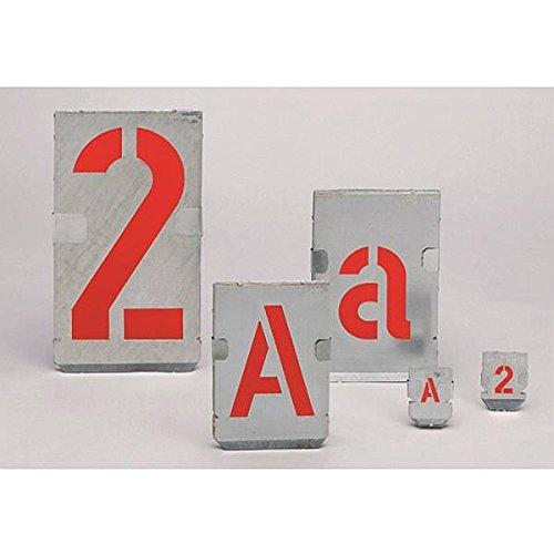 LEMAX® Signierschablonen Ziffernsatz 0-9, Schrifthöhe: 40mm, Zinkblech