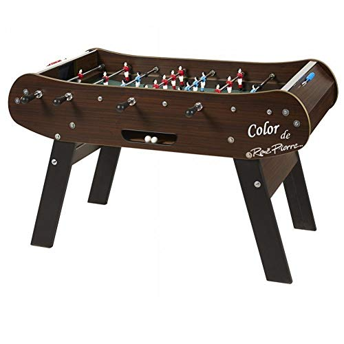 René Pierre Color Wenge Foosball Table in Dark Brown