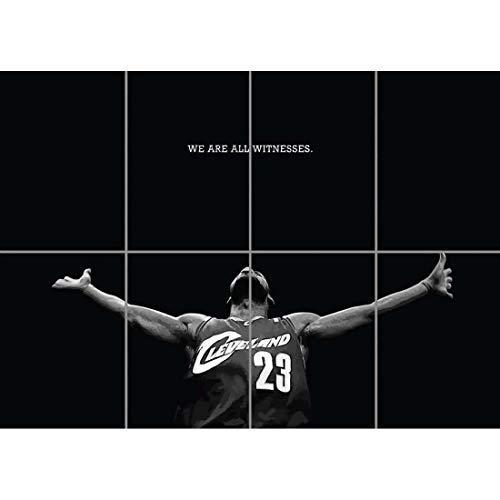 Doppelganger33 LTD Lebron James Basketball Wand Kunst Multi Panel Poster drucken 47x33 Zoll