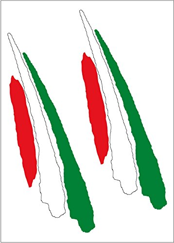 Artimagen Pegatina Bandera Trazo Alargado Italia 2 uds. 90x25 mm/ud.
