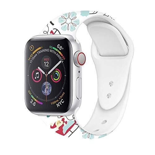 Correa de silicona para Apple Watch de 38 mm, 42 mm, 40 mm, 44 mm, delgada, suave, estrecha, de repuesto, para iWatch Series SE/6/5/4/3/2/1 mujeres y hombres 42mm/44mm