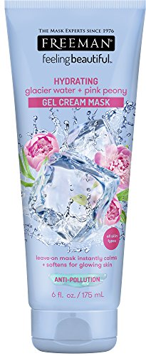 Freeman Hydrating Gel Cream Facial Mask, Moisturizing, Softening, and Calming Beauty Face Mask with Glacier Water and…