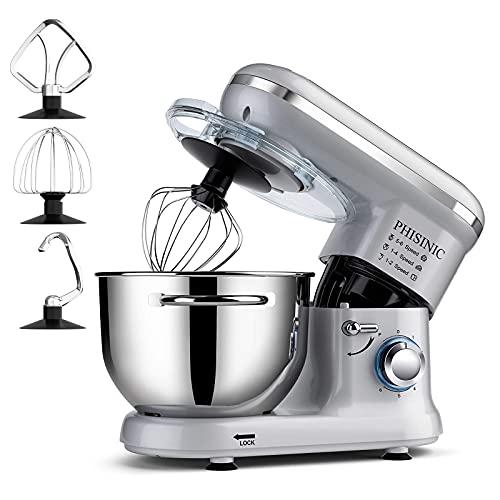 Impastatrice Planetaria, PHISINIC Robot da cucina 1500W, Mixer Cucina 5.5L,...