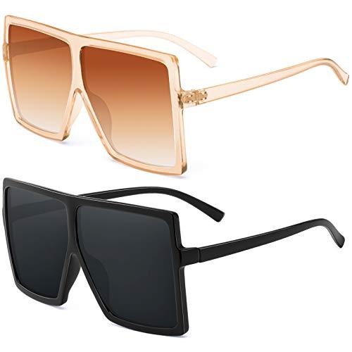 Square Oversized Sunglasses For Women - FEIDU Trendy Fashion...