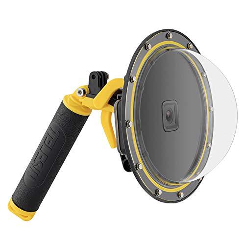Puerto domo para GoPro Hero 9 Negro, subacuático buceo caso cámara lente cubierta protector con carcasa impermeable, agarre de mano flotante, inserto antivaho fotografía subacuática 30M