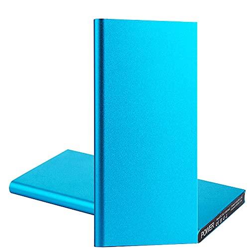 GLNuoke Banco de energía 20000 mAh portátil ultra delgado batería externa batería mochila Powerbank para iPhone 12 11 Pro Max Samsung Xiaomi Huawei (color: azul)