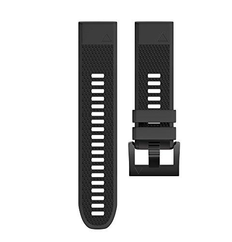 Pulseira para relógio Garmin Fenix5 /Fenix 5 Plus/Forerunner 935, pulseira de silicone macio de 22 mm de largura para Garmin Garmin Fenix 5/5/‿ 5 Plus