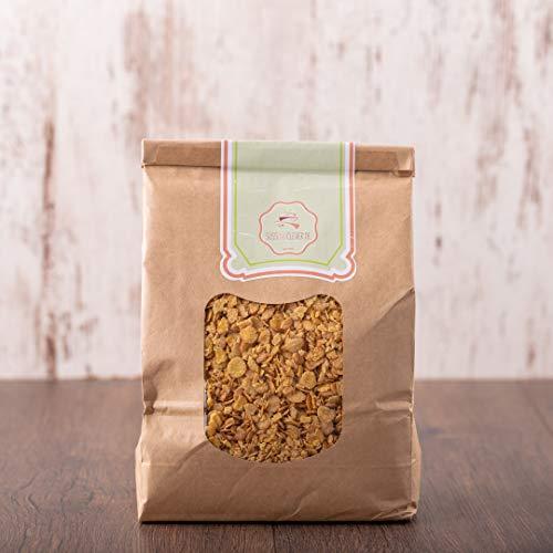 süssundclever.de® Bio Sojaflocken   Protein-Flakes   1 kg   plastikfrei und ökologisch-nachhaltig abgepackt
