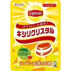 春日井製菓 キシリクリスタル リプトン紅茶のど飴 58g ×6袋