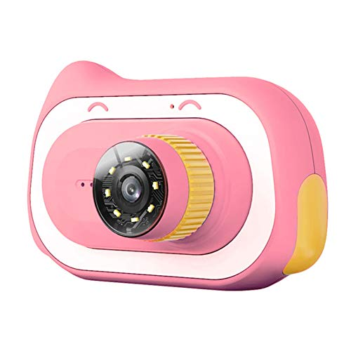 ZHENAO Children's Electron Microscope, Kids Digital Camera with Memory Card, 0~200X Educational Biological Magnification Toys Rechargeable Video Camera Toy,Pink,32G