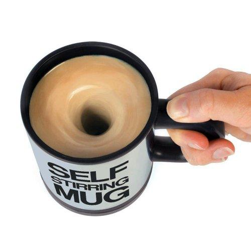 Towallmark Self Stirring Mug Office Coffee Tea Cup Mix Mixing Stir Gag...