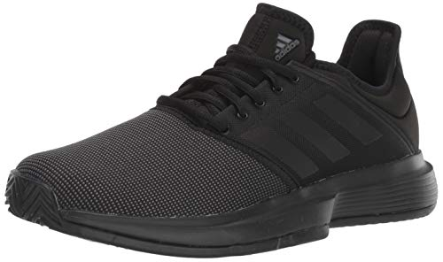 adidas Men's GameCourt Tennis Shoe, Black/Black/Black, 6.5 M...