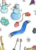 igsticker ポスター ウォールステッカー シール式ステッカー 飾り 594×841㎜ A1 写真 フォト 壁 インテリア おしゃれ 剥がせる wall sticker poster 015551 雪 雪だるま スキー 冬