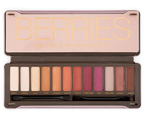BYS Berries Eyeshadow Palette Tin with Mirror Applicator