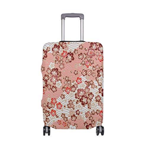 ALINLO - Funda para equipaje con diseño de flores rojas, estilo japonés, para maleta de viaje, para 18-32 pulgadas