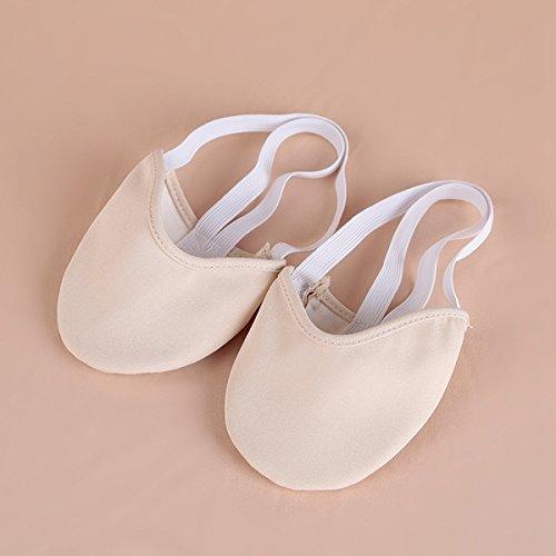 Bluelover Zapatos De Baile De Interior Danza Ballet Zapatos De Dos Colores - L - Color De La Piel