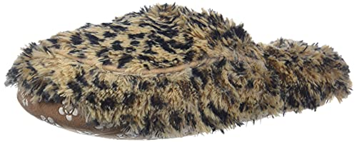 Intelex Warmies Fully Microwavable Luxury Cozy Slippers Leopard