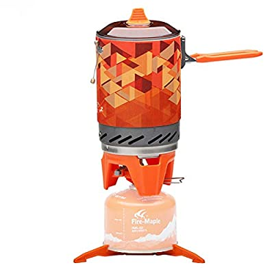 Fire-Maple FMS-X2 Fixed Star 2 Personal Cooking System Outdoor Hiking Camping Equipment Oven with Piezo Ignition Pot Support & Stand - Portable Propane Gas Stove Burner