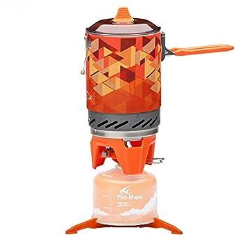 Fire-Maple Fixed Star 2 Réchaud de Camping Ultra Léger en Métal Système de Cuisson Réchaud Randonnée 2200W Orange