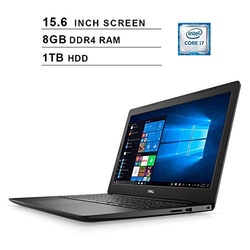 Dell Newest Inspiron 15 3583 15.6-Inch Premium Laptop, Intel Quad Core i7-8565U up to 4.6GHz, Intel UHD 620, 8GB DDR4 RAM, 1TB HDD, USB, HDMI, WiFi, Bluetooth, Windows 10