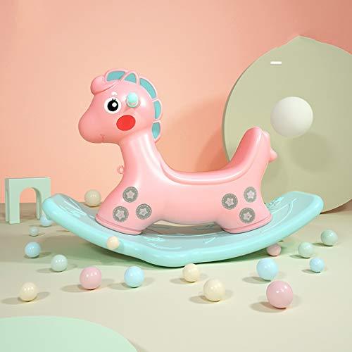 LINGZHIGAN for Les Enfants Rocking Horse Plastique Cheval de Troie Rocking Chair Baby Toy Year Old Cadeau
