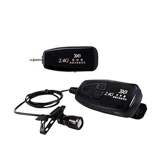 2.4G Micrófono Inalámbrico Lavalier Lapel Mic Amplificador de Voz Auto Paired Tie Clip Mic para Guitarra Pickup Conferencia Clase de Enseñanza