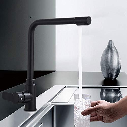 Chongyang Grifo negro mate para agua purificada, agua fría y caliente, nuevo diseño, con dos montaje en la tapa