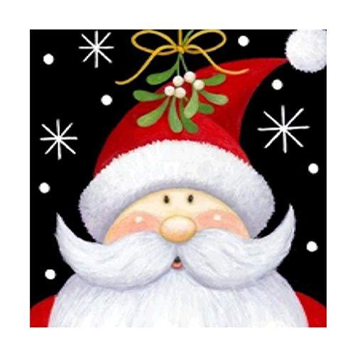 Santa Claus DIY 5D Diamond Painting, Christmas Weihnachtsmann DIY Full Diamond Painting Voller Stickerei Malerei Für Home Wanddekoration Decor Diamond, 25x30cm