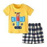 Pijamas para bebés y niños pequeños, Ropa de Dormir de algodón de Manga Corta para niños de 6-12 Meses