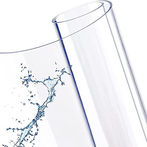 YQJ Mantel Plastico Mesa Rectangular,Hule Transparente, Mantel PVC Transparente Impermeable Plástico Protector Transparente Grueso 3mm,90x170cm/35.4x67in