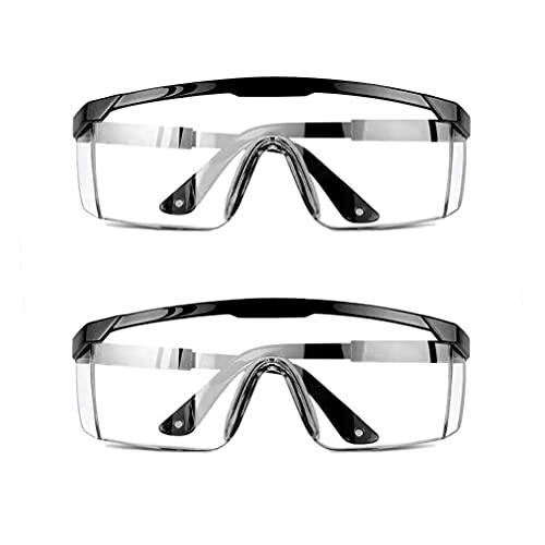 Urban Print Pack de 2 Gafas de Protección, Gafas de Seguridad Contra el Polvo, manchas y agentes contaminantes. (Gafas Negro)