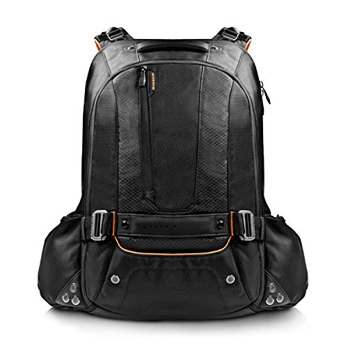 Everki Beacon – Laptop Rucksack für Notebooks bis 18 Zoll (45,72 cm) mit Schutztasche für Spielekonsolen (PS4, xBox, Wii), durchdachtem Fächer-Konzept - passend für Gaming Laptops (Asus ROG GL752, Acer Aspire, Dell Alienware 15, MSI GT, XMG), Schwarz