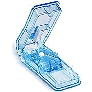 Opret 薬カッター ピルカッター 錠剤カッター 半割 切りやすい 携帯用 薬 カッターブルー