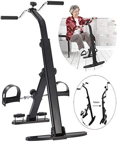 YGWLWL Mini Bicicleta Portátil De Ciclo/Equipo De Ejercicios Plegable para Brazo De Pierna Y Bicicleta De Ejercicio De Recuperación De Rodilla con Monitor LCD/Ejercitador De Pedal Negro