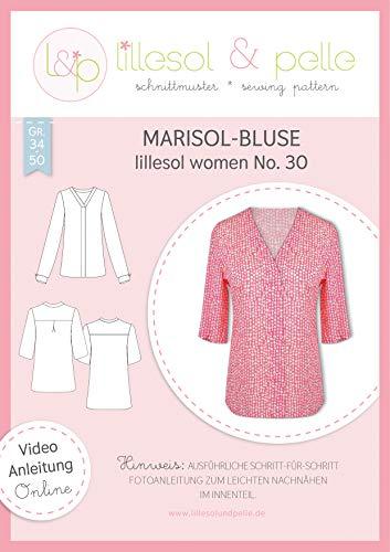 lillesol & pelle Schnittmuster lillesol Women No.30 Marisol-Bluse in Größe 34-50 zum Nähen mit Foto-Anleitung und Video