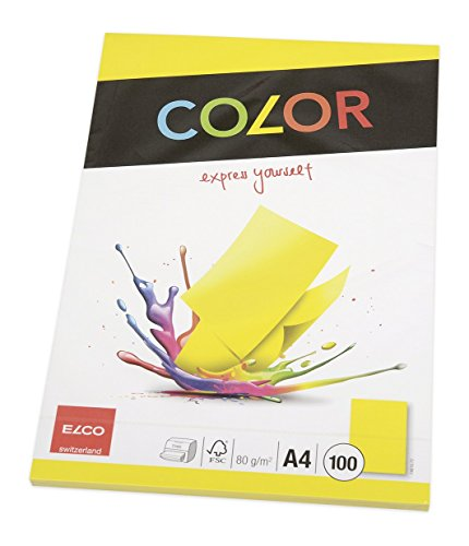 Elco 74616.72 Color Büropapier, A4, 80 g, intensivgelb