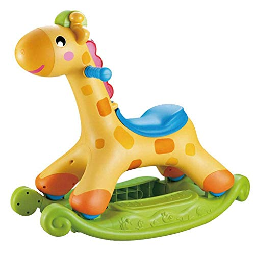JWDYA Wooden Rocking Horse, Small Wooden Horse for Children, Children's Rocker Toy, Indoor and Outdoor Toddler Riding Animal Baby Riding Toy