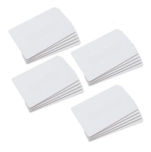CHIPDRIVE Time Recording User Card (Mitarbeiter-Chipkarten) Touch&Go RFID - blanko - weiß (20 Stück)