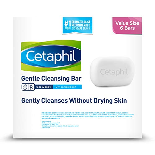 Cetaphil Gentle Cleansing Bar for Dry/Sensitive Skin, Travel Size, 1 Ounce (Pack of 24)