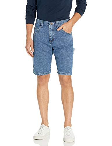 Wrangler Authentics Men's Loose Fit Carpenter Short, Antique Stonewash, 32