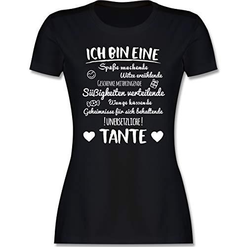 Schwester & Tante - Ich Bin eine Tante - XXL - Schwarz - Tante Tshirt Damen - L191 - Tailliertes Tshirt für Damen und Frauen T-Shirt