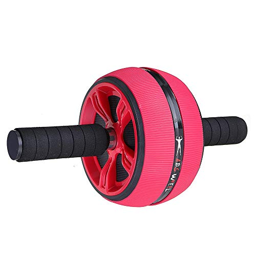 Heqianqian Bauchrad Max Last 200-500KG Abdominal- Rad-Rolle Home Gym Taillen-Workout Fitness-Tools Bauchmuskeltrainer (Color : Red, Size : One Size)